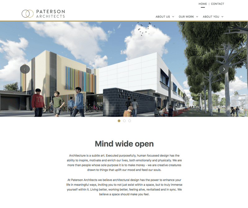 Paterson Architects hero image